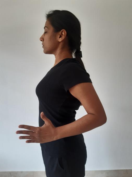 2nd position of Rope Jacket- Yoga Posture for breathing, yoga for frozen shoulder