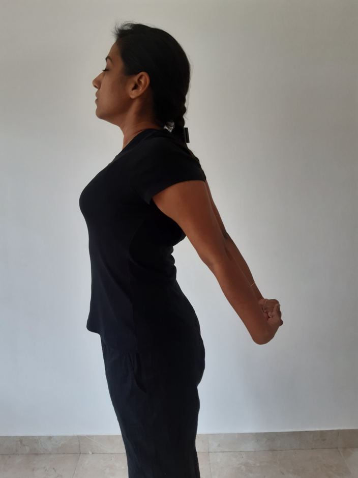 3rd position of Rope Jacket - Yoga Posture for Breathing